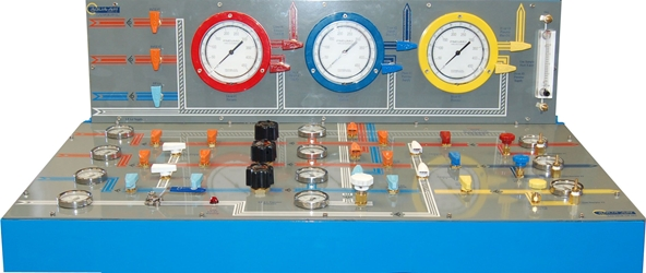 AAI THREE DIVER GAS CONTROL CONSOLE